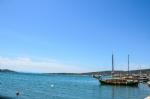 Cunda Adası Sahili ve Tekneler