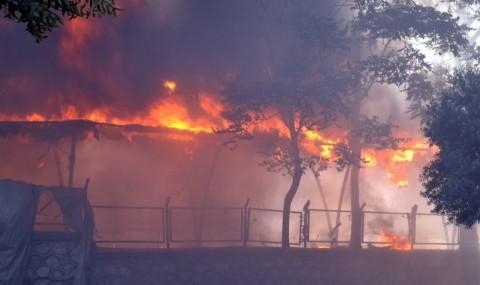Eski Pazar Yerinde ��kan Yang�n Band�rmal�lar� Korkuttu