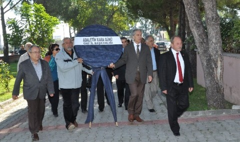 CHP�den Bal�kesir Adliyesine Siyah �elenk