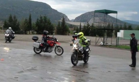 Havran�da Motosiklet Tutkunlar� E�itimi