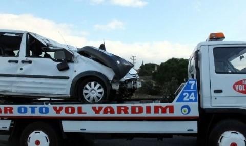 G�me�te Trafik Kazas�: 1 �l�, 4 Yaral�