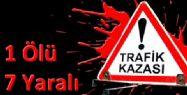 Burhaniye'de Trafik Kazas�: 1 �l�, 7 Yaral�