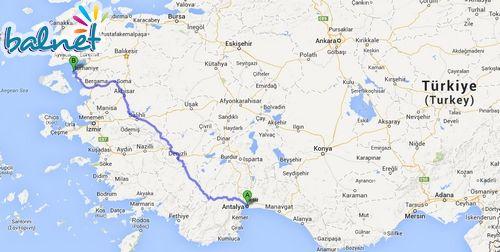 Antalya'dan Cunda'ya Nasıl Gidilir?